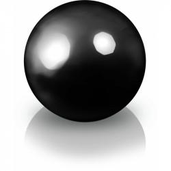 Ekskluzywna kula dekoracyjna 600 x 600 mm 95.016.60 Fiber decoball black