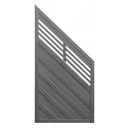Płot boazeryjny 1800/900 x 900 mm NICEA Grau