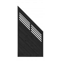 Płot boazeryjny 1800/900 x 900 mm Lucca Antracyt