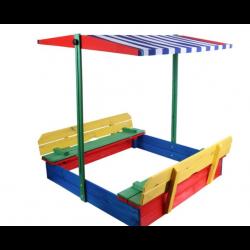 Piaskownica dla dzieci 1100 mm z daszkiem kolorowa