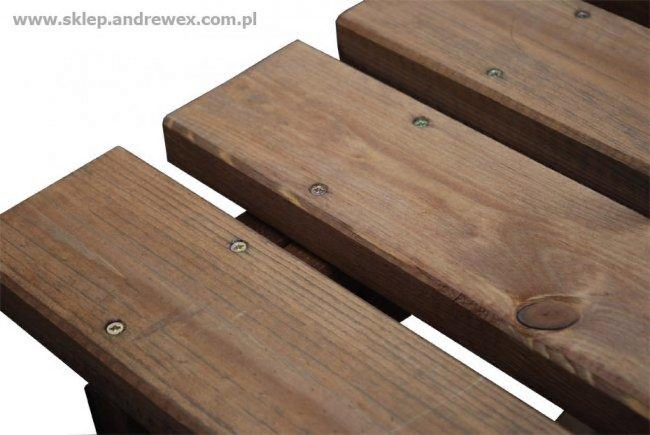 Stół piknikowy z ławkami 700 x 1480 mm