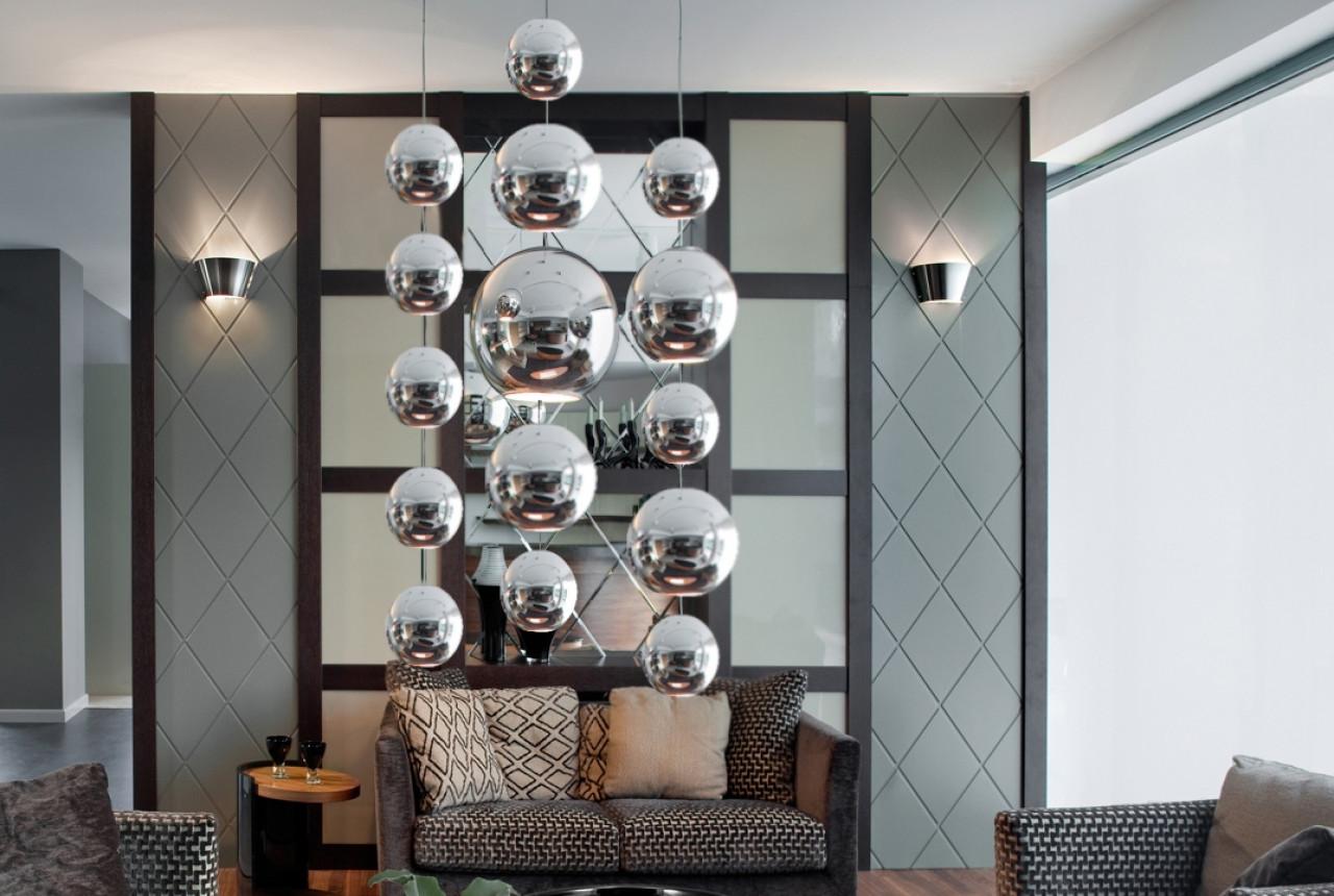 Metalowa kula 250 x 250 mm 74.003.25 hanging decoball - chrome