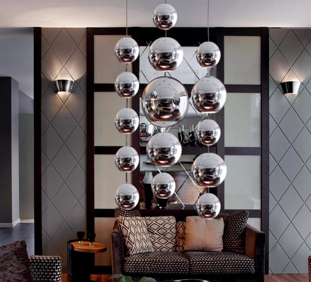 Metalowa kula 60 x 1000mm 74.004.06  hanging decoballs - chrome