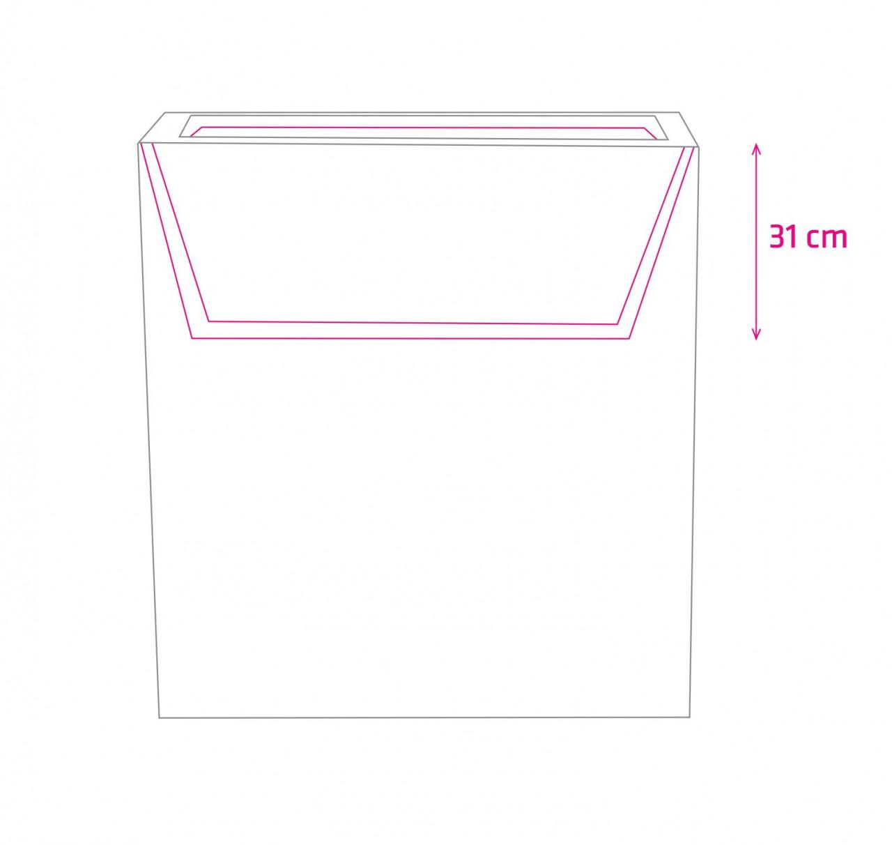 Donica Fiberglass 1000 x 340 x 1000 mm 95.012.100