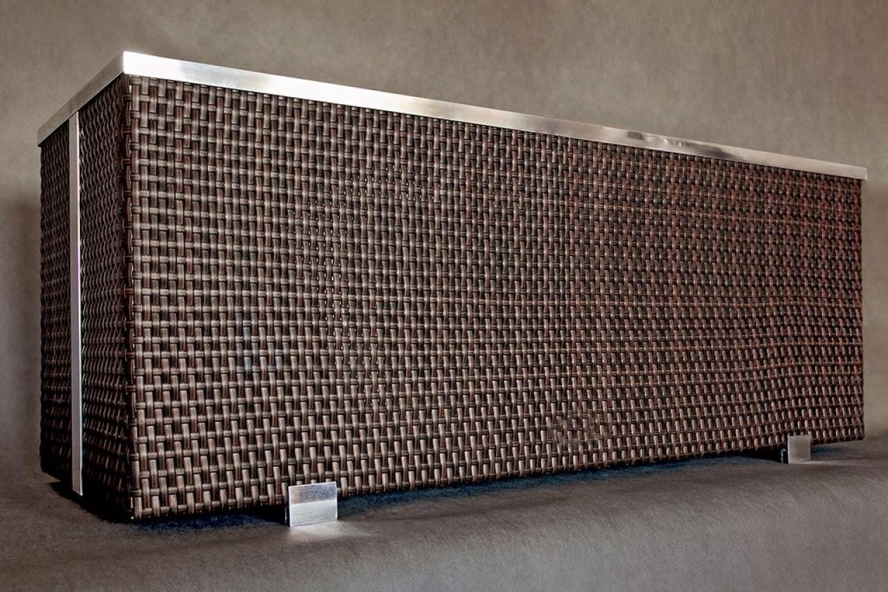 Donica Technorattanowa 700x380x400mm wyk. aluminium