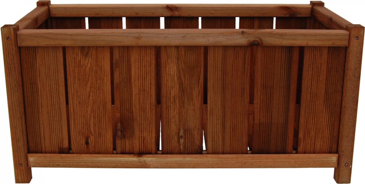 Donica drewniana 360 x 750 mm impregnacja brąz