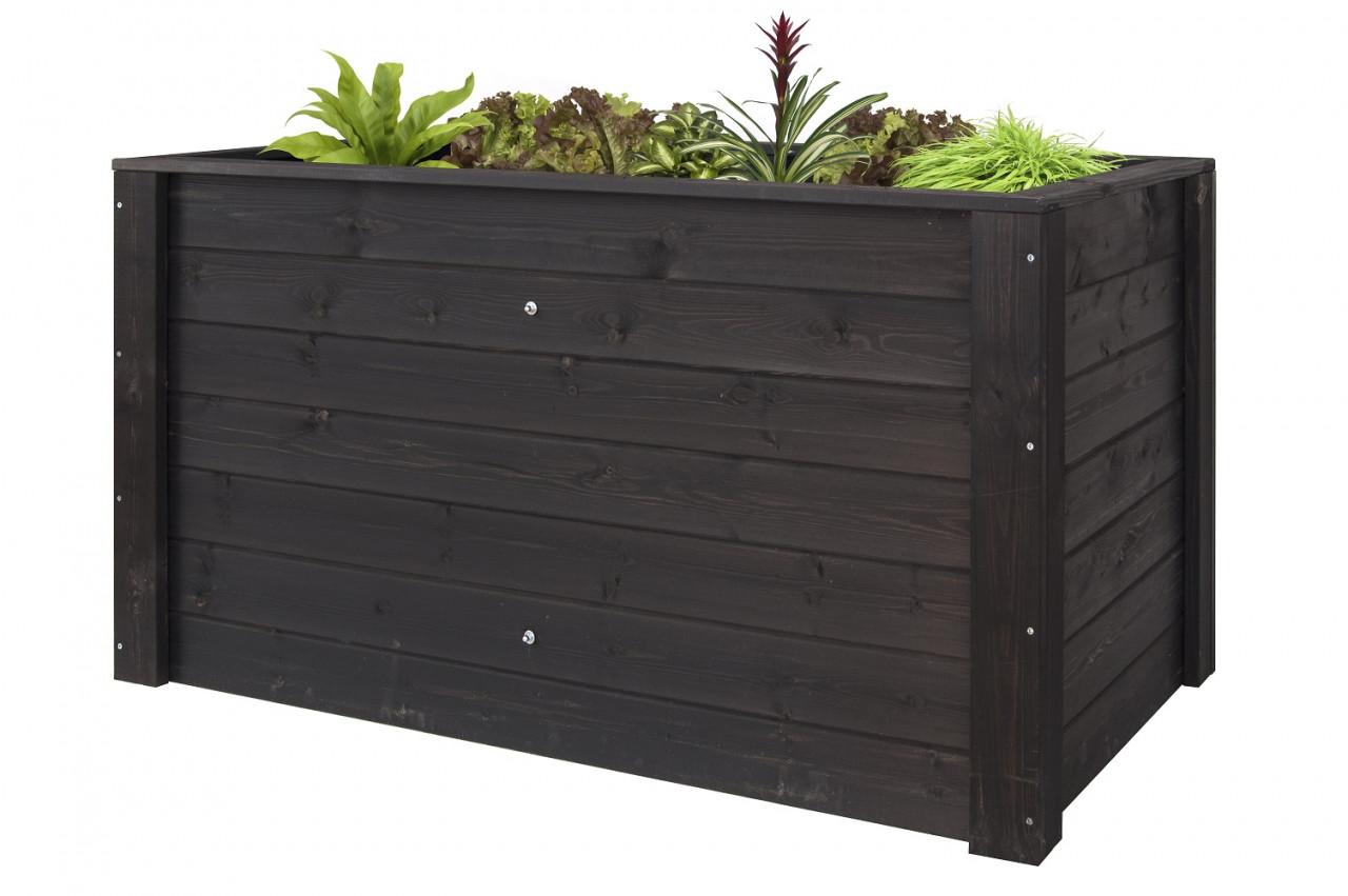 Donica drewniana 1500x790 mm lakier antracyt