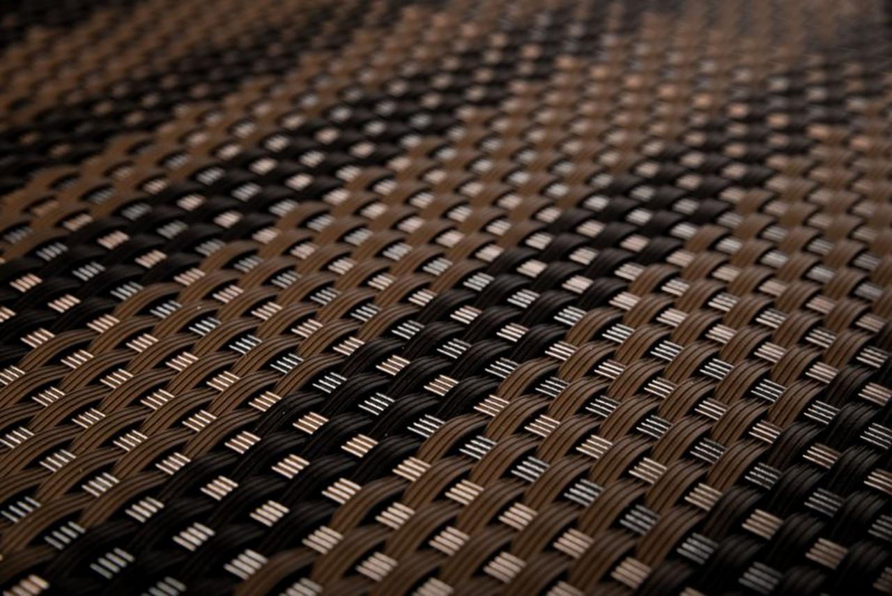 Mata technorattanowa 1000x3000mm ciemny / jasny brąz gładka