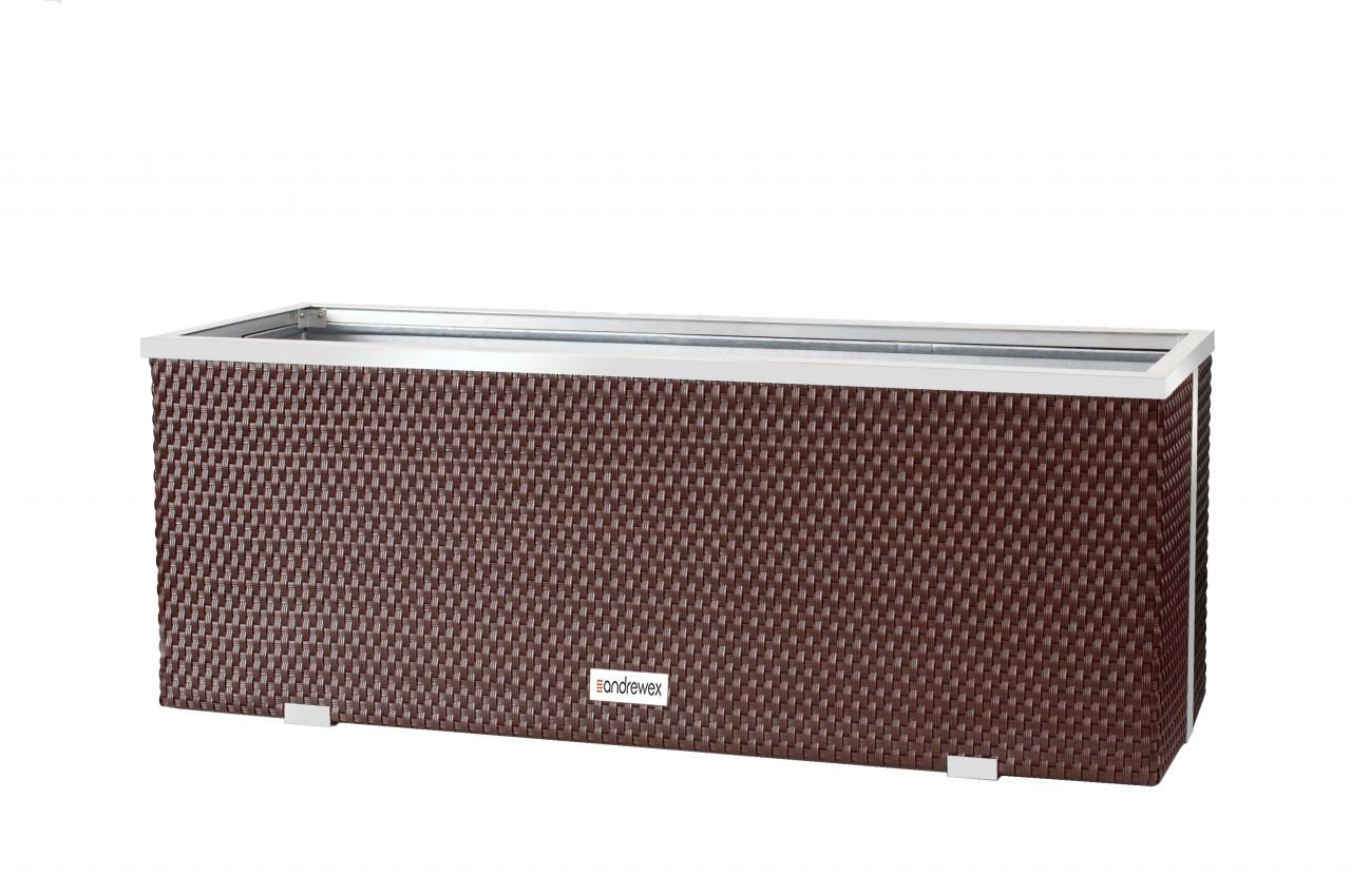 Donica Technorattanowa 1500x390x500mm wyk. aluminium