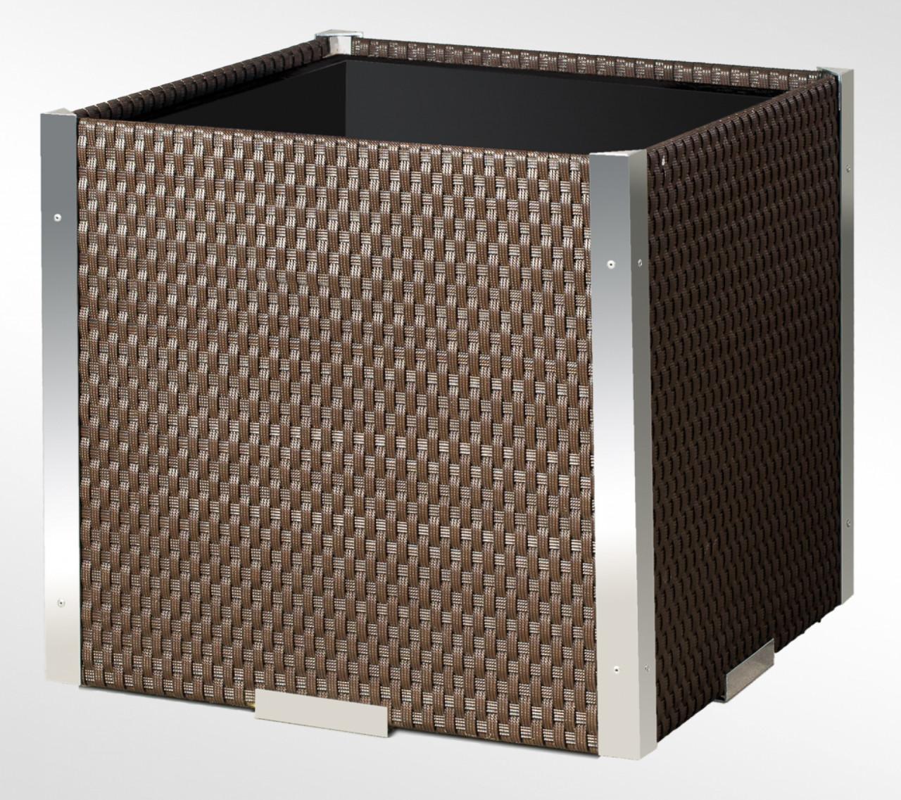 Donica Technorattanowa 460x460x460mm wyk.aluminium