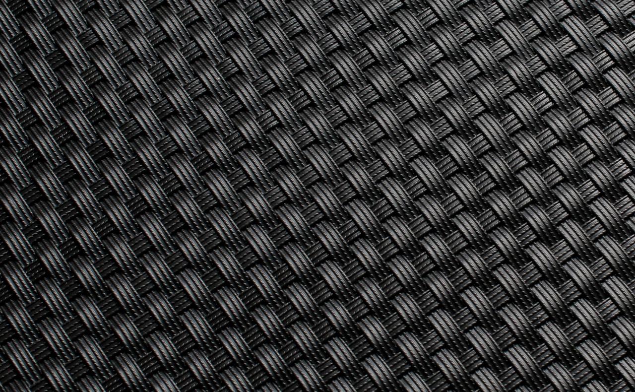 Mata technorattanowa 1500x3000mm czarna RD04