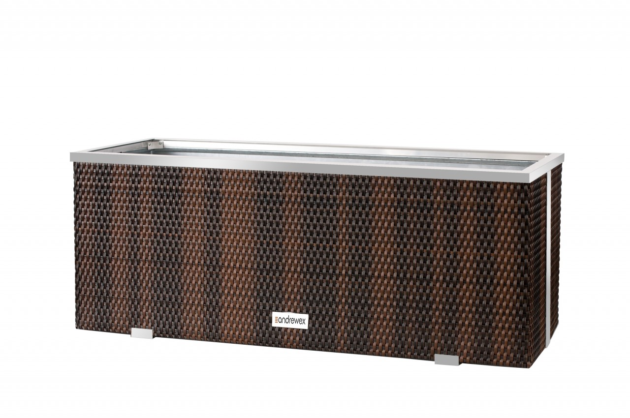 Donica Technorattanowa 980x250x340mm wyk. aluminium