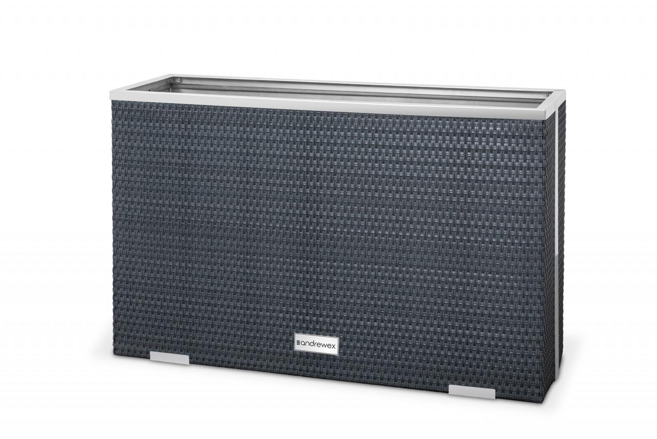 Donica Technorattanowa 1000x300x600 mm wyk.aluminium