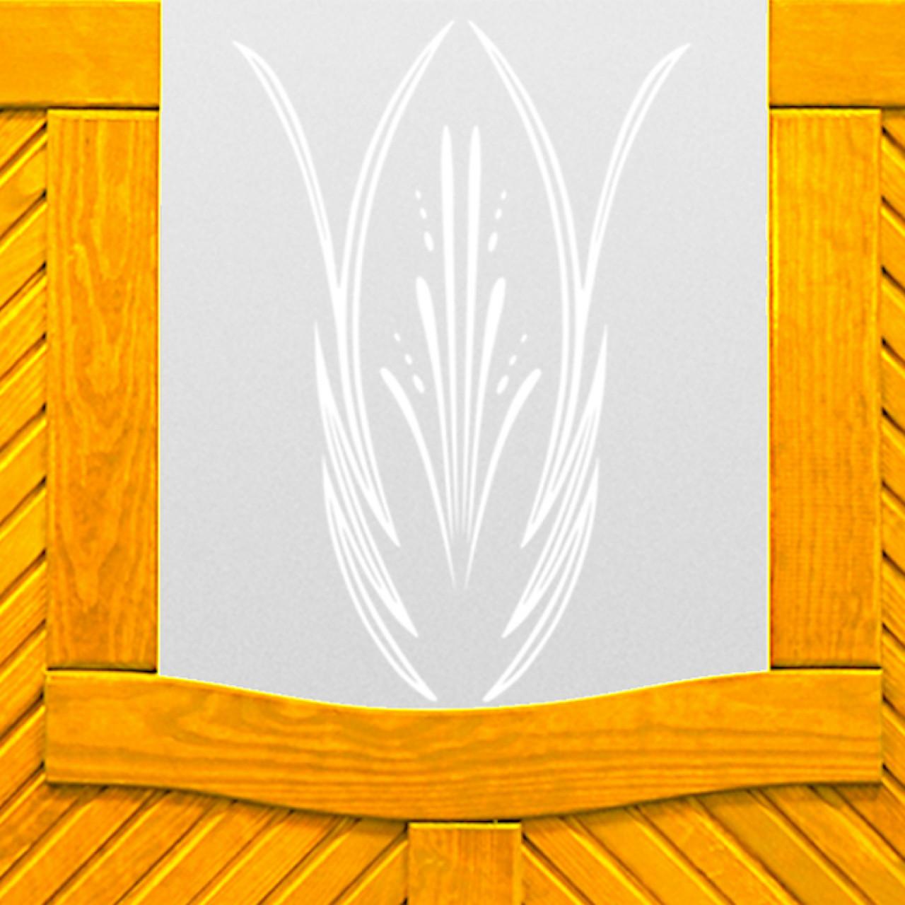 Płot boazeryjny szkło 1800 x 1800 mm LORIENT Pinia WYPRZEDAŻ
