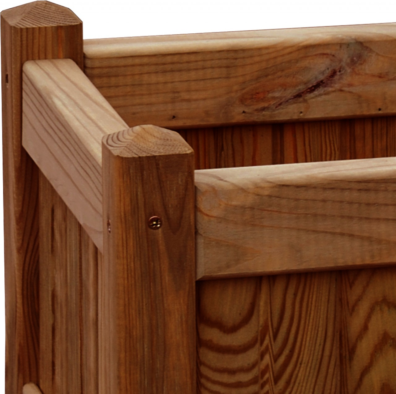 Donica drewniana 330 x 330 x 330 mm impregnacja brąz