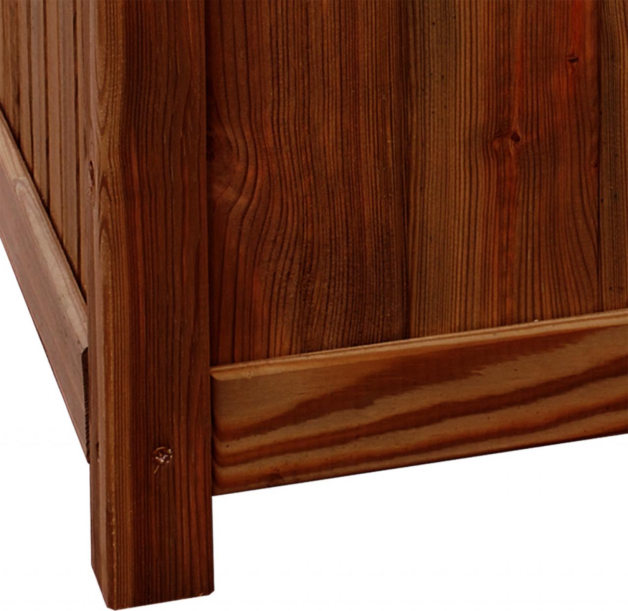 Donica drewniana 450 x 450 x 450 mm impregnacja brąz