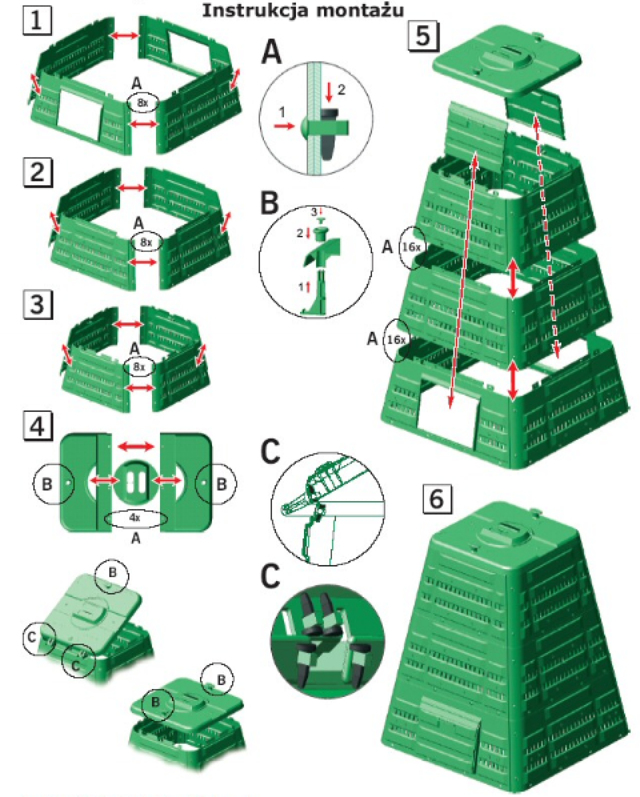 Kompostownik 720 L zielony