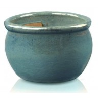 Donica szkliwiona Round-pot 280 x 160 mm ZIELONY MORSKI_main_photo