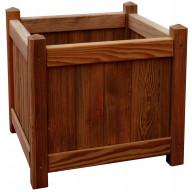 Donica drewniana 450 x 450 x 450 mm impregnacja brąz _main_photo