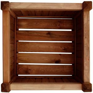 big_image_Donica drewniana 450 x 450 x 450 mm impregnacja brąz