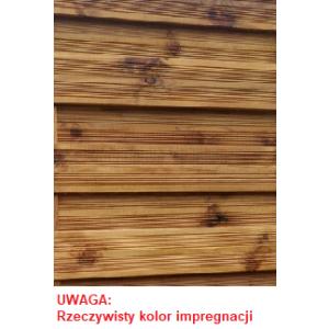 big_image_Płot ryflowany 1800 x 1800 mm Prosty Impregnacja Brąz WYPRZEDAŻ