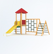 Place zabaw drewniane