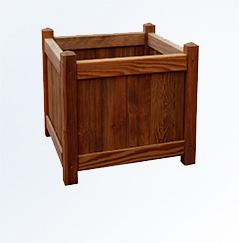Donice drewniane z kratką