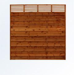 Płoty drewniane - lamelowe