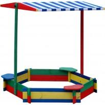 piaskownice dla dzieci z ławkami zamykającymi